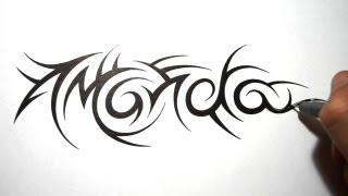 Tribal Name Tattoos Amanda