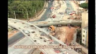 Moradores participam de audi�ncia de concilia��o no caso do viaduto ca�do