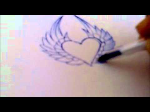 Graffitis de corazones flechados a lapiz - Imagui