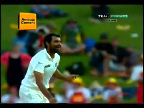 Hashim Amla Bowled by Shami in 2nd test