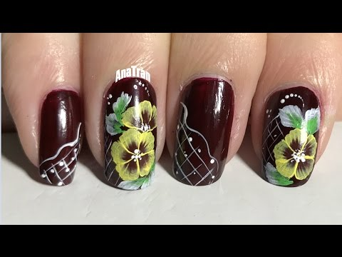 Nails Art Design Compilation #03 🌺 | vẽ Nail hoa cánh nhún cọ bản