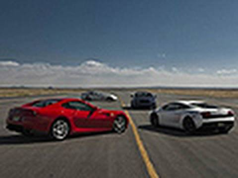 The Quest for 200MPH! - Ferrari, Lamborghini, McLaren & Bentley Race Towards The Big Two!, We head out to Mojave Air & Space Port with the Ferrari 599 GTB Fiorano, Lamborghini LP560-4, Mercedes-Benz SLR McLaren & Bentley Continental SuperSports to ...