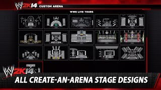 WWE 2K14: All Create-An-Arena Stage Designs, Arena Size