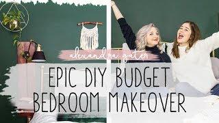 EPIC SMALL BEDROOM MAKEOVER ON A BUDGET | DIY BEDROOM HACKS