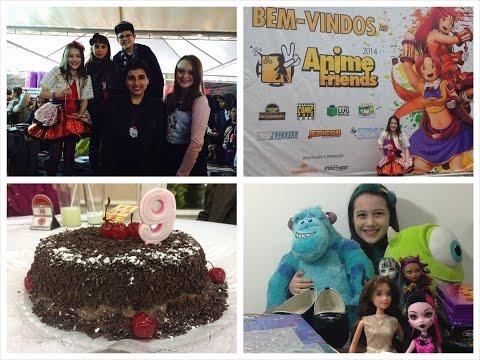 Meu Aniversário, Anime Friends, Presentes e Comprinhas por Julia