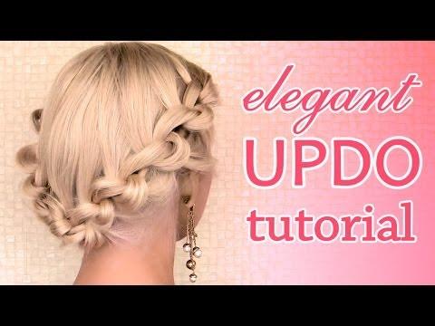Elegant updo hairstyle for Christmas and New Year's eve - Elegáns frizura karácsonyra és újévre