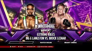 WWE 2K14 Big E Langston Vs Brock Lesnar Wrestlemania 30