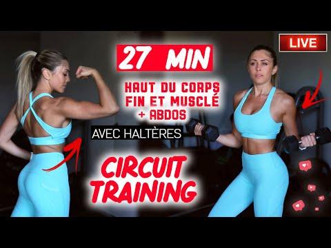 Fitness Training haut du corps + Abdos dessinés (échauffement + séance) 💪🏼🔥