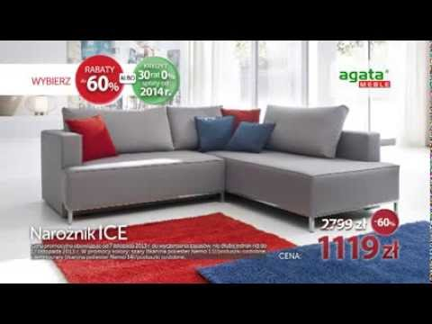 60. urodziny Agata Meble: narożnik Ice 60% taniej - YouTube