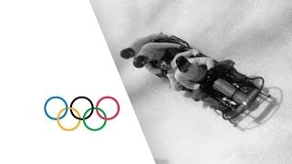 Classic Bobsleigh Action Lake Placid 1932 Winter Olympics