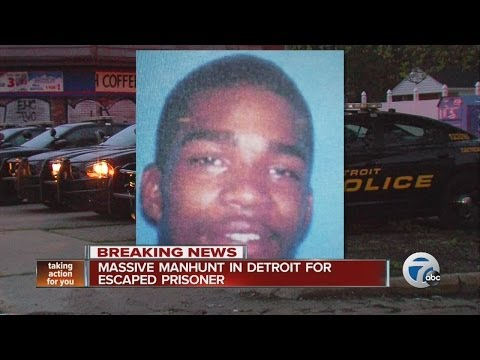 Police scour Detroit for inmate who escaped from hospital