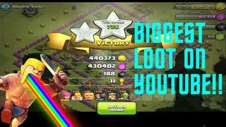 Clash Of Clans BIGGEST LOOT ON YOUTUBE! 870,963K