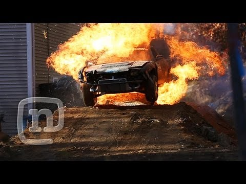 Exploding Drift Car Jump