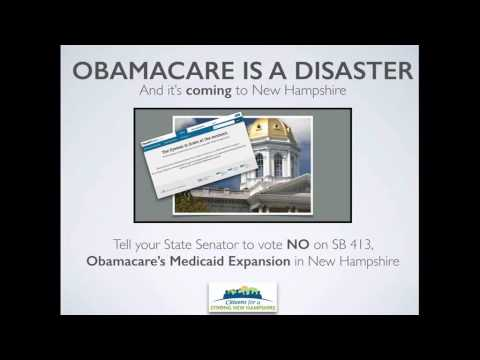 Stop Obamacare's Medicaid Expansion in New Hampshire, Vote No on SB 413