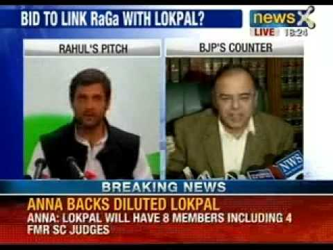 NewsX: Arun Jaitley hits out at Rahul Gandhi over Lokpal Bill