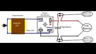 Cargador de baterías para autos y motos