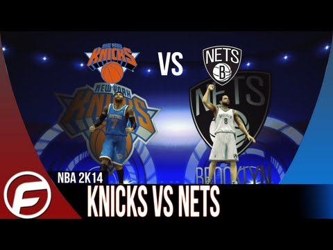 NBA 2K14 New York KNICKS vs Brooklyn NETS CARMELO ANTHONY DOMINATES THE NETS