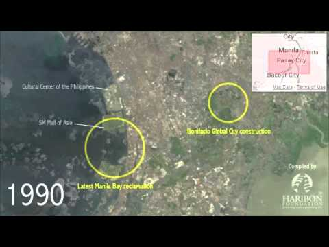 A Bird's Eye View: Manila Bay reclamation and Bonifacio Global City construction.