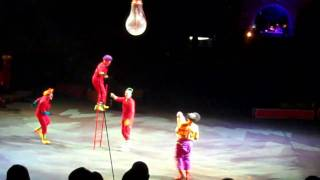 "Ringling Bros. and Barnum & Bailey Circus 141st edition ""Fully Charged"" - Light Bulb clown gag"