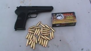 Czechoslovakian CZ 52 Shooting Wolf Gold 7.62x25mm Tokarev
