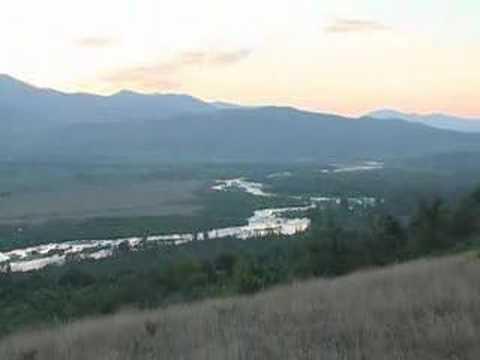 Albania, Dibra e Madhe, sunrise in Diber