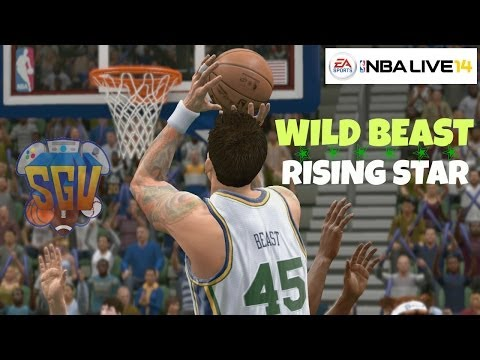 NBA Live 14 (PS4): Rising Star - Wild Beast (Center) EP 2 (1st NBA Game!)
