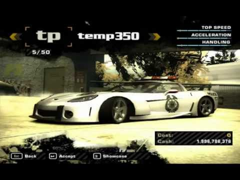 nfs most wanted hd full car list cheat cars viewpure. Black Bedroom Furniture Sets. Home Design Ideas