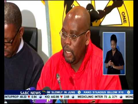 Zwelinzima Vavi was released from all his official duties as general secretary of COSATU