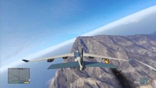 GTA V: Cargo Plane Truck Jump Gameplay