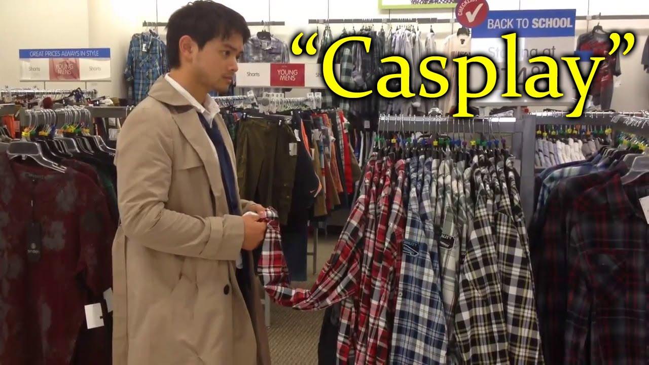"""Osric Chau (Kevin) Cosplay do Castiel em shopping """"Casplay ... Osric Chau Castiel"""
