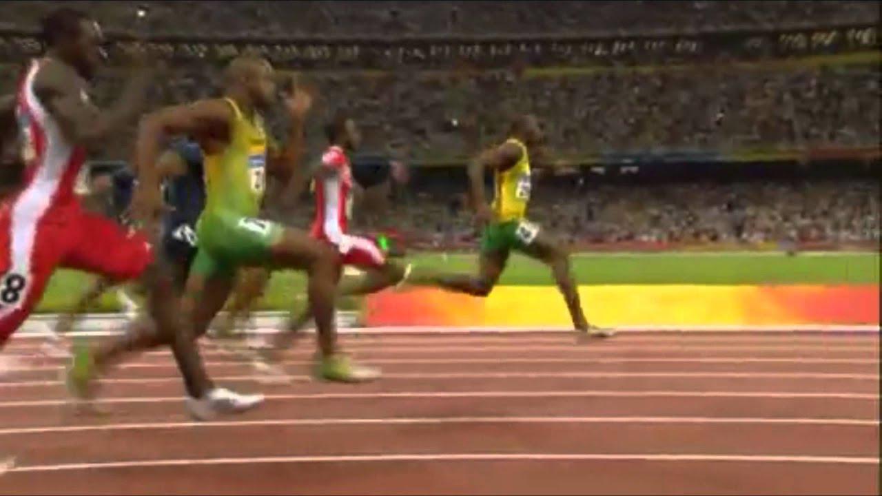 Usain Bolt Abs Workout In the first race  300m   Bolt