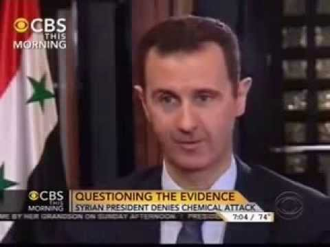 Bashar Al Assad interview on cbs
