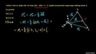Določanje koordinate točke z vektorji 2