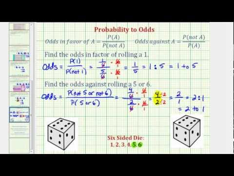 Determine Odds Using Probability