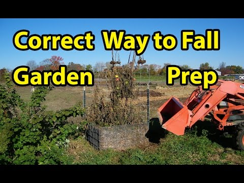 Fall Garden Soil Preparation all Gardens PLUS Raised beds- Back to Eden gardening method. Pt 6