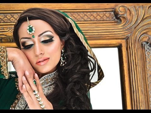 Glamorous Mehndi Asian Bridal / Arabic Bridal Makeover - Hair and Make up by Fahmida Ashiq #Look 6