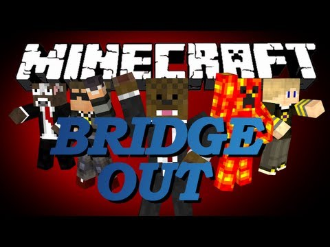 Minecraft Bridge Out Battle (BOB) Minigame w/ SkyDoesMinecraft, TBNRFrags, GoldSolace and Brayden #2