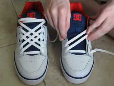 Shoes lace styles 6 holes star