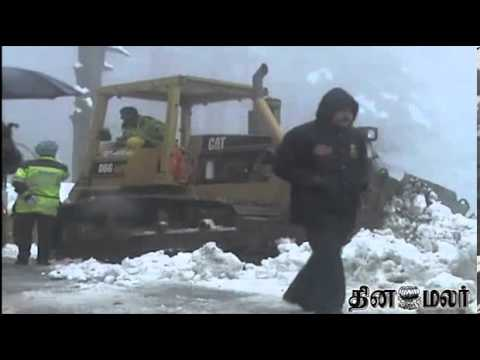 Kashmir Completely Affected due to Heavy Dew Fall - Dinamalar Jan 23rd 2014 Tamil Video News
