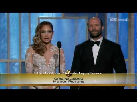 Jennifer Lopez Gives Award to Adele for 'Skyfall' - Golden Globes 2013