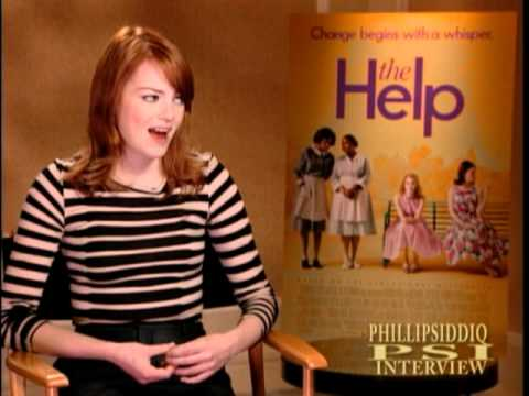 EMMA STONE Interview with PHILLIP SIDDIQ for the film The Help..mpg