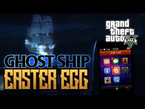 GTA V: GHOST SHIP EASTER EGG (VERY SPOOKY)