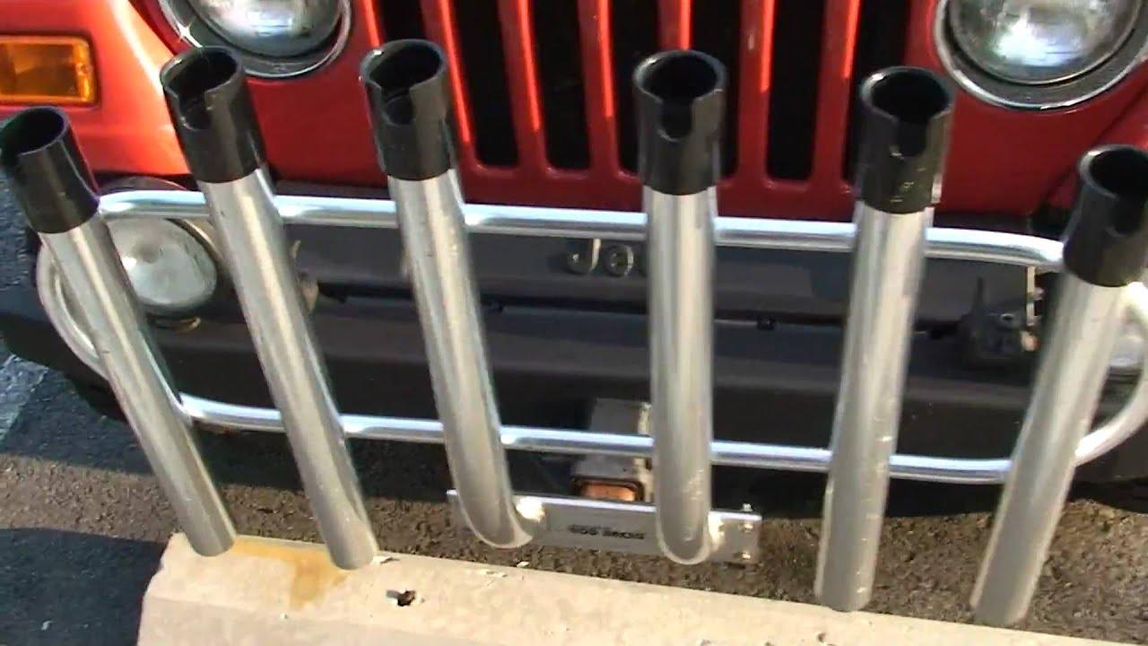jeep wrangler fishing rod holder car interior design. Black Bedroom Furniture Sets. Home Design Ideas