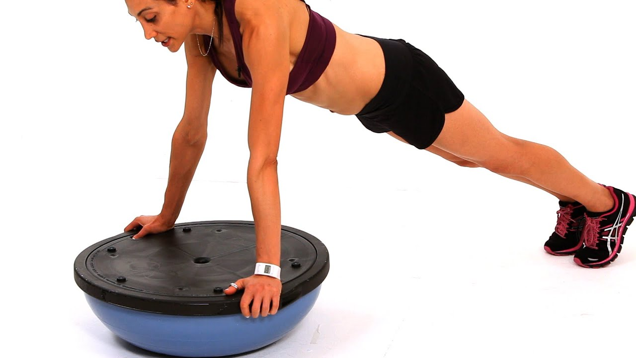 Watch: bosu ball push-up workout