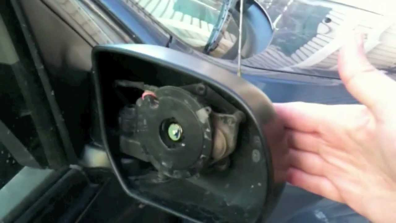 replace  car passenger side mirror   diy