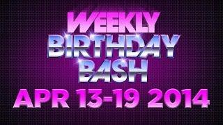 Celebrity Actor Birthdays - April 13-19, 2014 HD