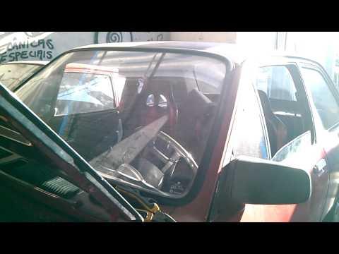 Chevette com motor de golf 2.0 aspirado cortando CABELO RACER