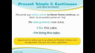 Gramática Inglés: Presente Simple Vs. Presente Continuo