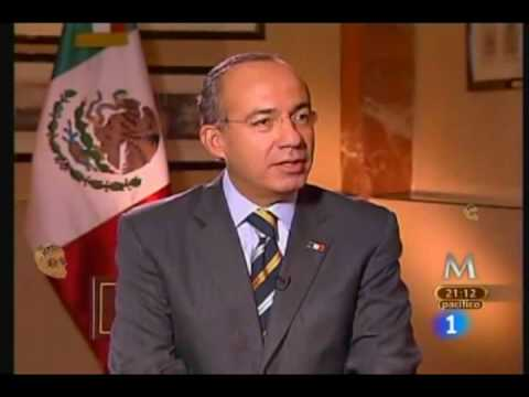 Felipe Calderon El Gobierno no se echara para atras en la guerra contra el narco