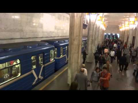Various rides in the subway in Minsk, Belaus  Минск, Беларусь